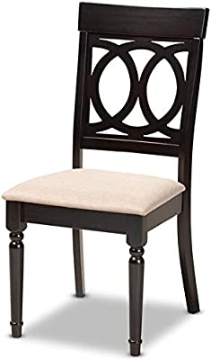 Amazon.com: Baxton Studio Lucie Sand Espresso Brown Finished ...