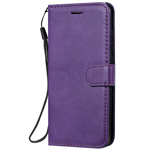 Hülle für Xiaomi Redmi 8A Hülle Leder,[Kartenfach & Standfunktion] Flip Case Lederhülle Schutzhülle für Xiaomi Redmi 8A - EYKT051907 Violett