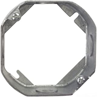 Steel City 55151-1/2-25 4-Inch Diameter 1-1/2-Inch Deep 15.8-Cubic Inch Pre- Galvanized Steel Octagon Box Extension Ring