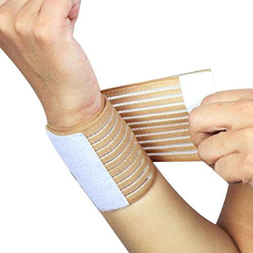 Luwu-Store Praktische Outdoor Sports Armbänder Verband Basketball Armschiene Hand Wrist Straps Hautfarbe