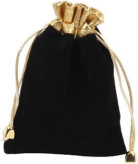 Guangcailun Sacchetto di Velluto con Coulisse Sacchetto di Gioielli Portatile Pouch Wedding Party Gift Bag Black Bagagli