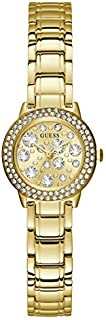 Guess Dress Watch for Women, Stainless Steel Case, Champagne Dial, Analog -GW0028L2