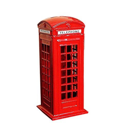 Junecat británica de Cosecha Londres Cabina de teléfono Figurita Modelo Banco de Metal Caja de Moneda