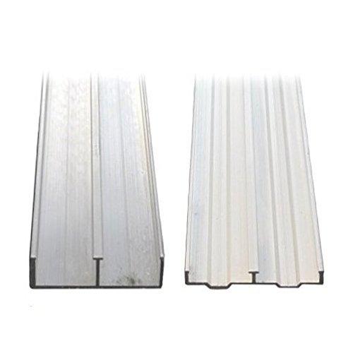3/4' X 4' Aluminum Sliding Door Track (4')