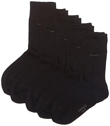 Camano Herren 3642 Ca-Soft 5 Paar Socken, Schwarz (black 05), (Herstellergröße: 35/38) (5er Pack)