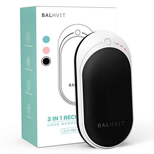 Balhvit 3s Quick Heating Rechargeable Hand Warmer, 5200mAh 4-8H Long-Lasting Electric Hand Warmer...