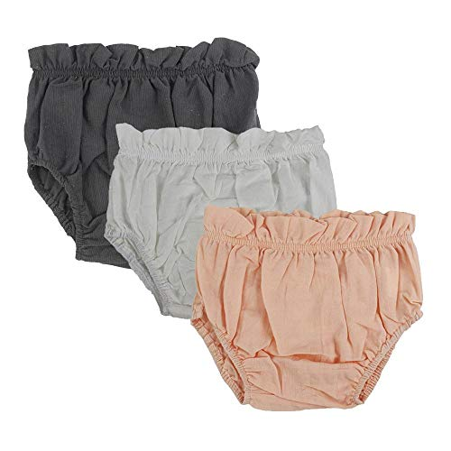 Wennikids Baby Toddler Girls Boys Diaper Covers Cotton Bloomer Shorts Pack of 3 Small Color 04