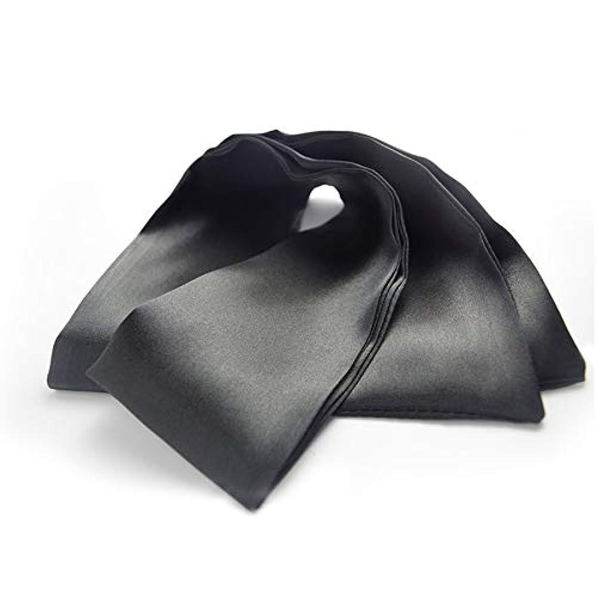 スリラー投資提供するNOTE 高品質のスリープアイマスクサテンリボンソフトで快適なカバーアイパッチベルト目隠し用男性と女性