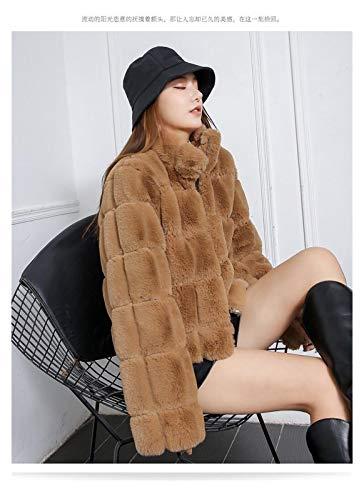 Chaqueta cálida y cómoda fácilmente. Abrigo de invierno chaqueta para mujer invierno piel natural moda chaqueta corta abrigo de cuero abrigo de invierno abrigo de piel de zorro ropa de lujo