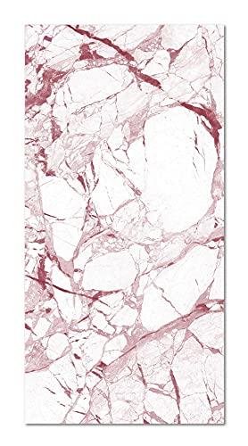Panorama Alfombra Vinílica Mármol Blanco y Rosa 300x200 cm - Alfombra en...