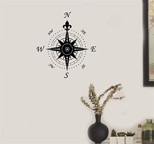 wandaufkleber 3d Wandaufkleber Schlafzimmer Kompass Windrose Dekoration Geographie Reisen