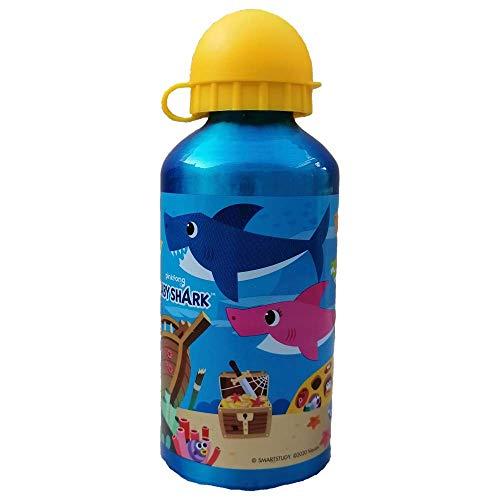 Botella de aluminio Baby Shark con boquilla y tapa, 500 ml – ST13539