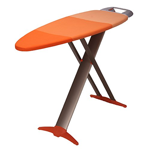 HOUSEHOLD ESSENTIALS 879000-1 Euro Style Premium Steel Top Ironing Board | Wide Top Tri Leg