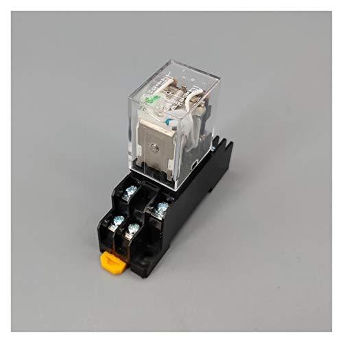 JSJJAWS Relés Interruptor MY2P HH52P MY2NJ Bobina de relé DPDT General Micro Mini relé electromagnético con la Base del zócalo LED 110V AC 220V DC 12V 24V (Size : DC 12V)