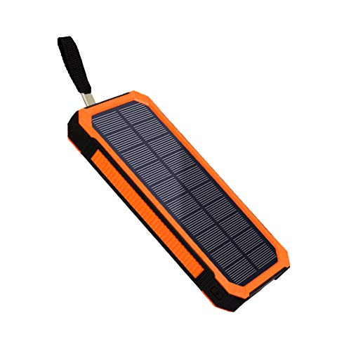Power Bank Solar Charger, TimeDegree 15000mAh Solar Power Bank with 2 USB Ports, Portable Phone Charger with Flashlight, Ideal for Traveling, Camping and More
