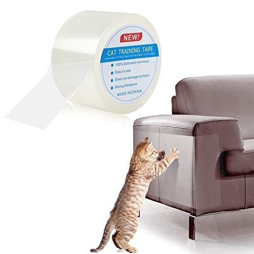 Pidsen Protezione Graffi Gatto, 7X1000 CM Nano Nastro da Addestramento per Gatti, Autoadesive Trasparente PVC Anti-Graffio Protector per Gatti e Cani, Protezione per Divano e Mobili