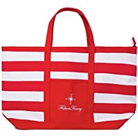 Fishers Finery Small Beach Shoulder Tote Bag (Red)