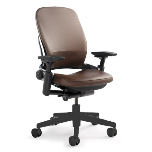 Steelcase Leap Mahogany Leather Chair