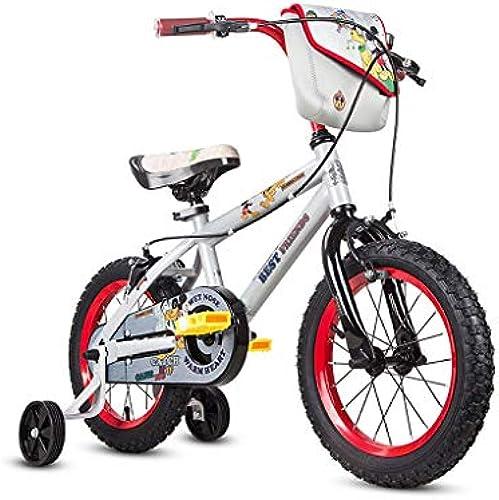 Kinderfahrrad Junge Fahrrad 12 14 16 Zoll Kinderwagen Teen Mountainbike Bestes Geschenk (Farbe   Weiß, Größe   16INCH(115CM20CM59CM))