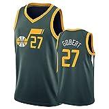 Jazz 27# Gobert Basketball Jersey para Hombre, 2020/2021 Temporada City Edition Jersey, Vestido Ventilador Al Aire Libre Secado rápido Ropa Deportiva (S-2XL) Dark Green-L