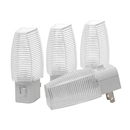 DEWENWILS Plug in LED Night Light with Switch, Manual On Off Nightlight for Bathroom, Hallway,...