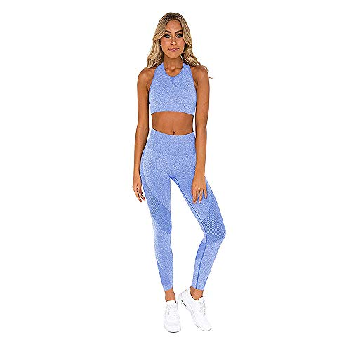 bbmee 2 Piece Sports Outfits for Women Seamless Yoga Pants and Tops Sets Tracksuit Womens Workout Suit Sports Outfit Green
