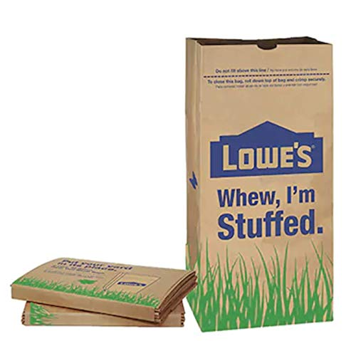Lowes 30 Gallon Paper Heavy Duty Brown Paper Lawn and Refuse Bags for Home (5 pack)