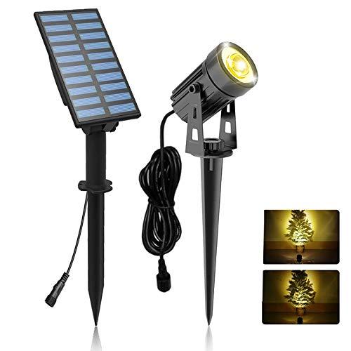 Solar Gartenleuchte, T-SUNRISE LED Solarlampe Garten Automatisch On / Off Wasserdicht Solarlicht Gartenlampe für Außen Garten Auffahrt Weg Swimmingpool (Warmweiß 3000K)