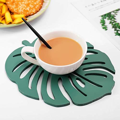 Le yi Wang You Tischsets Blätter, Rutschfeste Isolierung Waschbar Künstliche Weiche Tropische Palmblätter Tischsets Set Für Home Kitchen Table Runner Party SNone