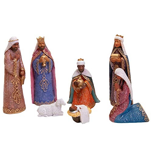 African American Expressions - Nativity Scene Figurine Set, 7 Pieces, FNAT-02