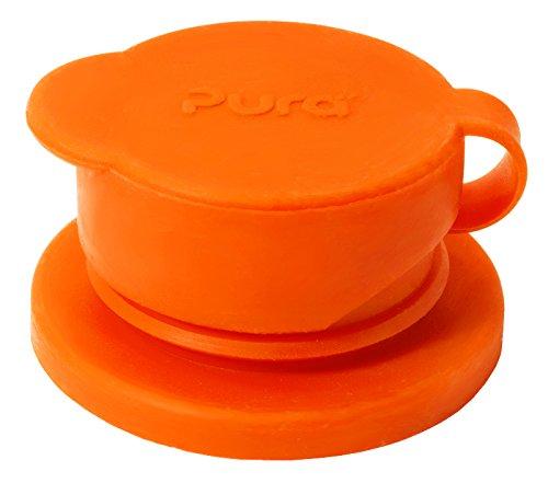 Pura Tapa deportivo de silicona de boca grande (sin plástico, certificado no tóxico, sin bpa) Naranja