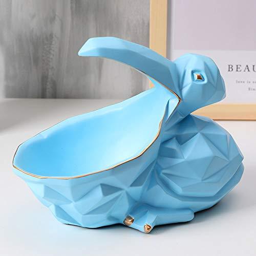 Figuur, beeldjes, beeldjes, beeldjes, sculptuuren, geometrische vogel opbergdoos beeldje dieren figuur handwerk snoepjes sleutelopslag voor woonkamer slaapkamer boekenkast desktop huisdecoratie Ba blauw