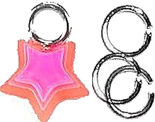 Silberfarbenes Dangel Piercing