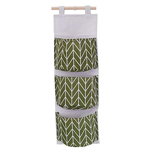 Bolsillos de almacenamiento para montar en la pared, organizador impermeable para colgar 3 bolsillos, amplia aplicación, bolsa de almacenamiento para colgar en la pared, para habitación, cocina, baño