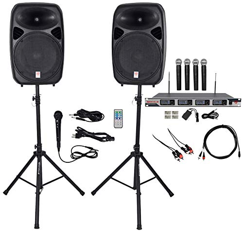 "Rockville Dual 15"" iphone/ipad/Android/Laptop,TV Youtube Karaoke Machine/System"