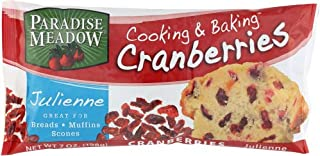 Paradise Meadow Julienne Cut Cooking and Baking Dried Cranberries, 7 Ounce ( Pack of 5)