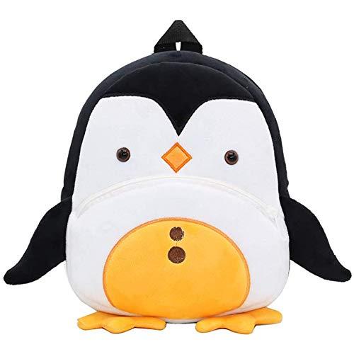 AOUVIK Zaino per Scuola Materna per Bambini in 3D, Piccolo Simpatico Animale, Zaino per Pinguino Carino/Zainetto per Bambini (2-4 Anni)