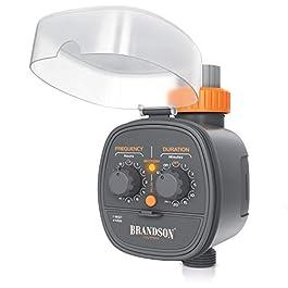 Brandson – Minuterie d'arrosage Automatique, Contrôleur système d'irrigation, Programmateur d'eau, Minuteur d'arrosage…