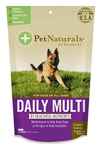 Pet Naturals of Vermont - Daily Multi for Dogs  Everyday Multivitamin Formula with 28 Canine Specific Nutrients  30 Bite-Sized Chews