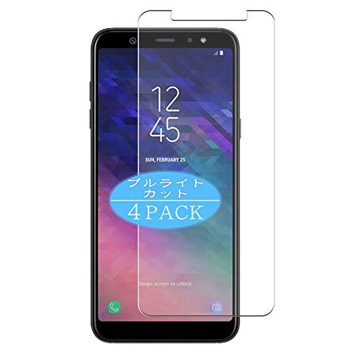 VacFun 4 Piezas Filtro Luz Azul Protector de Pantalla Compatible con Samsung Galaxy A6 Plus 2018 A6+, Screen Protector Película Protectora (Not Cristal Templado) Anti Blue Light Filter New Version