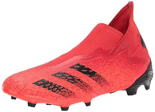 adidas Predator Freak .3 Laceless Firm Ground Red/Black/Solar Red 9 (mens)