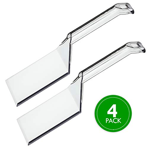 Plasticpro Disposable Plastic Serving Spatula Durable Heavy Duty Premium Serving Utensils Clear Pack of 4