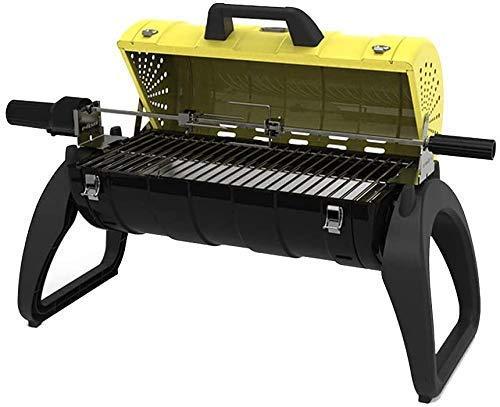 Barbecue, extérieur plein d'épaississement de carbone Ensemble complet d'outils Barbecue extérieur domestique charbon de bois @ (Couleur: Bleu, Taille: C) (Couleur: Jaune, Taille: A) HAOSHUAI (Couleu