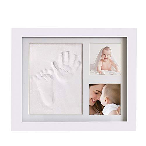 Set de Marco de fotos y Huellas de bebé- personalizar de las huellas de mano y pie- perfecto bautismo baby shower regalo