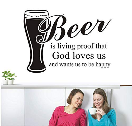 Donker bier is een mooi blikken logo blik whisky poster retro vintage decoratieve muur thuis bar pub cafe muur sticker citaat87x123cm