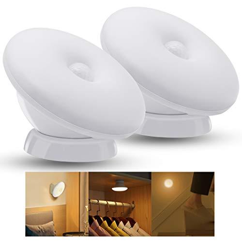 -50% Luce Notturna ricaricabile Wireless con sensore di movimento girevole a 360° 🎁CODICE PROMO ---->