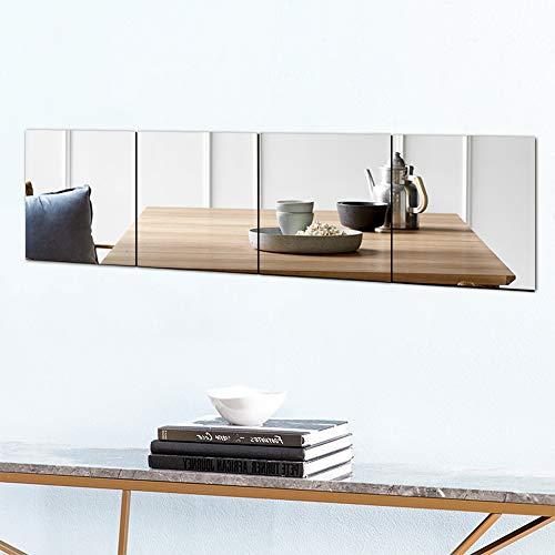 【2枚セット】割れない鏡貼るミラー 耐衝撃 軽量 取付簡単 壁掛け 姿見 (24*24)