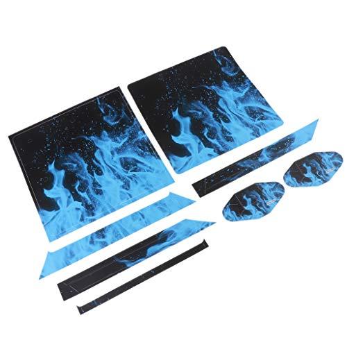 FLAMEER Für Playstation 4 PS4 Slim Skin Designfolie Sticker Aufkleber Schutzfolie Set aus Vinyl für Konsole und 2 Controller , Motiv Auswahlbar - YSP4S-0065