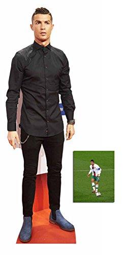 Fan Pack - Cristiano Ronaldo Fußballer Lebensgrosse und klein Pappfiguren / Stehplatzinhaber / Aufsteller - Enthält 8X10 (25X20Cm) starfoto