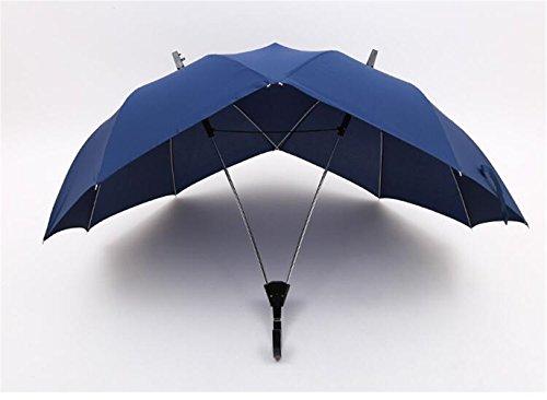 Sucastle,Doppelstange langstieligen gerade bar Regenschirme Doppel- Paar Schirm,Hit Tuch, Faser, Stahl, Kunststoff,120cm*87cm*152cm